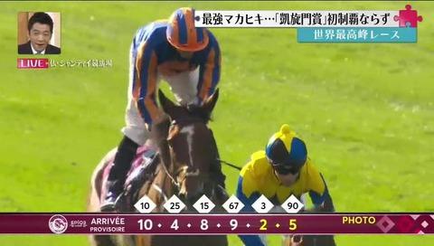 マカヒキ 凱旋門 制覇ならず キス  (16)