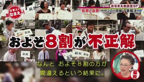 萩原と荻原 日本人の8割が間違える