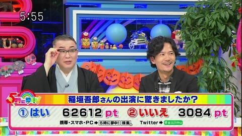 『5時に夢中』稲垣吾郎 投票
