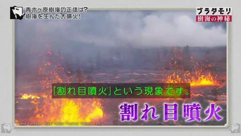 ブラタモリ 富士の樹海 第二回 割れ目噴火