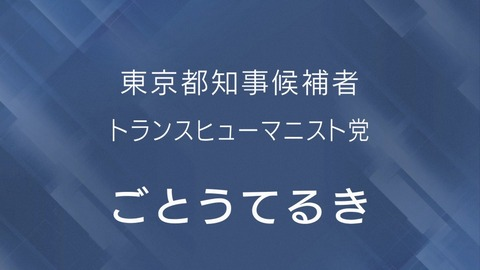 NHK 都知事政見放送 ごとうてるき