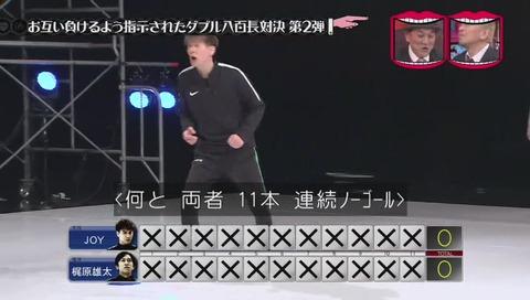 水曜日のダウンタウン 八百長対決 サッカーPK