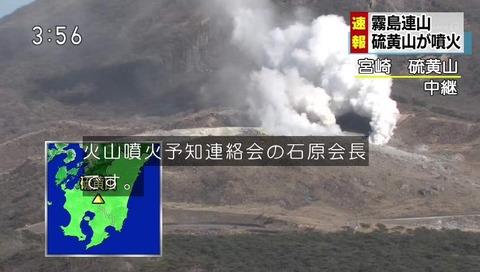 霧島連山 えびの高原 硫黄山 噴火