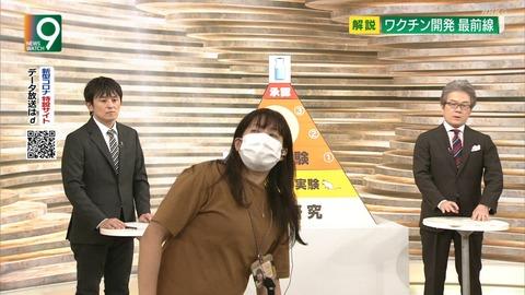 ニュースウオッチ9女性スタッフ放送事故画像 (2)