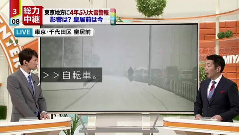 「情報ライブ ミヤネ屋」雪
