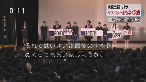 東京オリンピックマスコット 投票結果 生中継