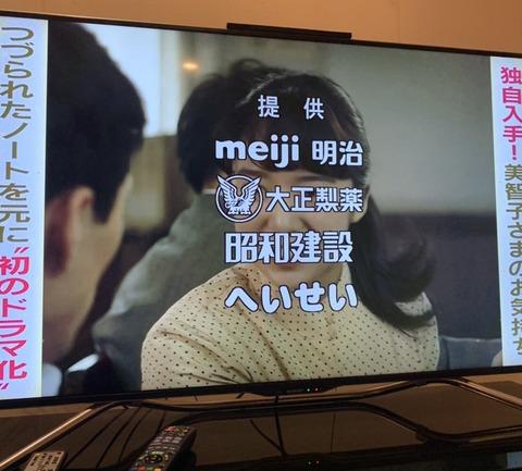 フジテレビ 提供スポンサー 明治 大正 昭和 平成