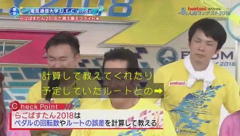 鳥人間コンテスト 2018 電気通信大学「らごぱすたん」