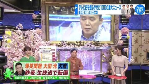 サンデージャポン 太田光 欠席