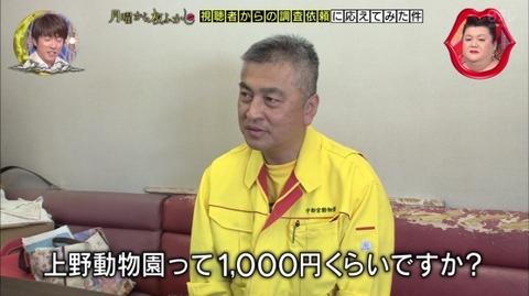 上野動物園 料金 1000円