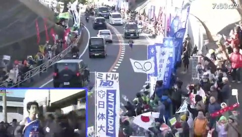 箱根駅伝 2020年  二宮 フリーザ軍団がテレビに映る