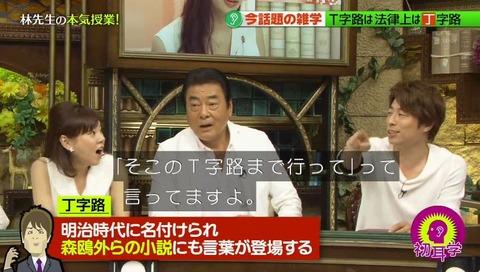 林先生が驚く初耳学 NHKに続きまたしても「丁字路」 (49)