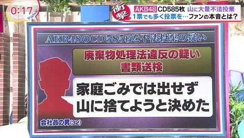 AKB48 CD不法投棄問題