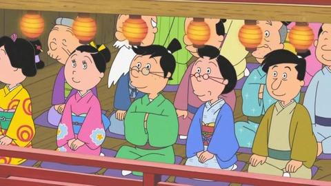 サザエさん50周年スペシャル 本編1話目「花のお江戸のサザエ大夫一座』ウキエさん甚六さんたち