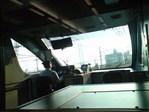 スーパーはくと先頭車輛より、明石海峡大橋を望む