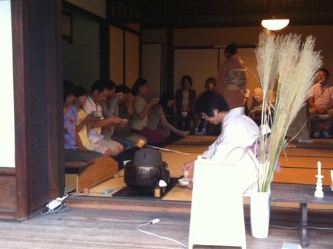 旧石橋家住宅で行われている「虫の音茶会」