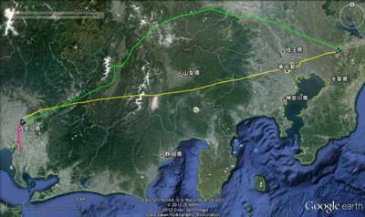20121125名古屋GPS航跡SM