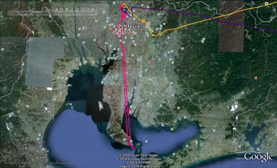 20101120夜間飛行GPS_google_