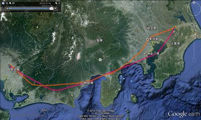 20130120名古屋GPS航跡SM