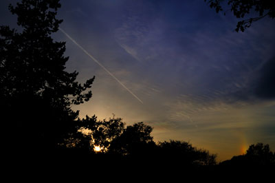 20111127_0649彩雲横飛行機雲