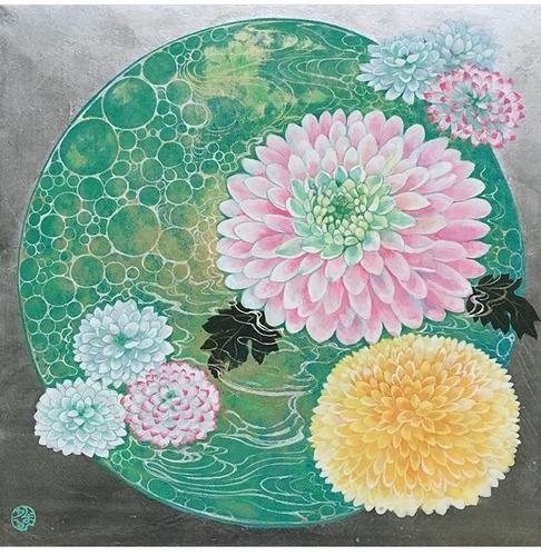 菅かおるS3環の中のぽんぽん菊