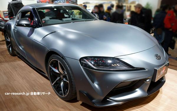 スープラ日本仕様、右ハンドル車両を大阪オートメッセ2019で公開