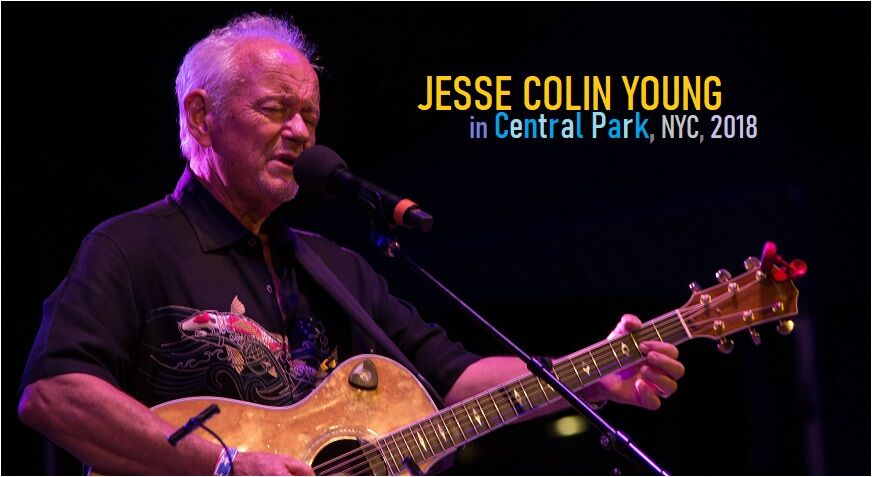 Jesse Colin Young in Central Park, NYC, 2018