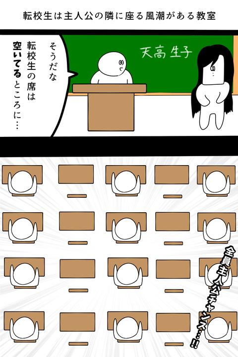 全員主人公の教室の転校生登場