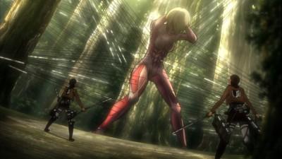 進撃の巨人 第19話 女型の巨人を捕獲