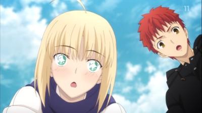 (アニメ) Fate/stay night UBW 第12話 セイバーさん可愛い