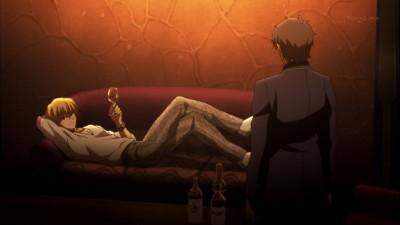 Fate/Zero 第6話 ギルガメッシュと言峰の出会い