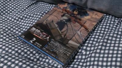 進撃の巨人のBD第2巻が届いた