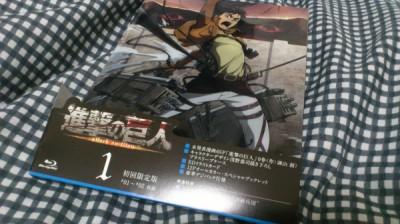 進撃の巨人 BD第1巻が届いた