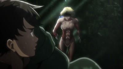 進撃の巨人 第18話 女型の巨人とエレン