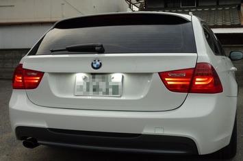 BMW E91 ライセンスプレート