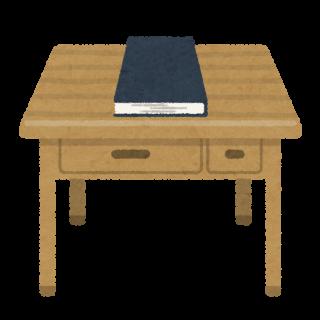 本_机の上