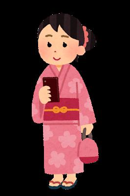 smartphone_yukata_woman