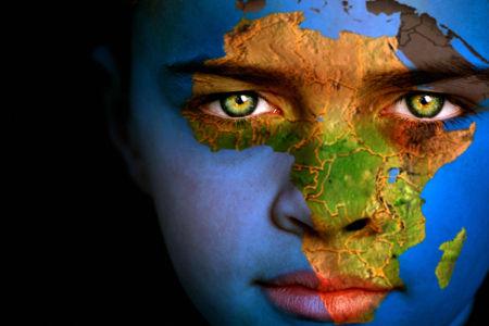Boy Africa Map
