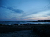 夕方の海・・
