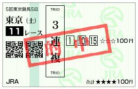 東京スポーツ杯2歳S馬券