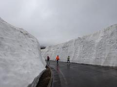 雪の壁、一番高いとこ