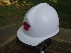 コウモリ穴のヘルメット