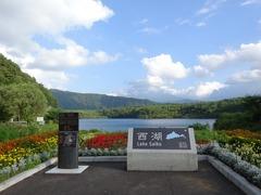西湖から富士山