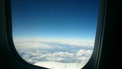 雲の上はきれいだな~