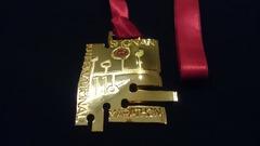 第11回湘南国際マラソン完走メダル表