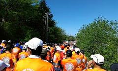 軽井沢ハーフのスタート前の整列
