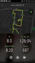 running画面