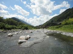 天竜川の支流、遠山川