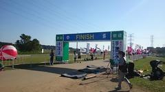 第21回手賀沼エコマラソンゴール地点