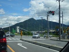 目の前に筑波山